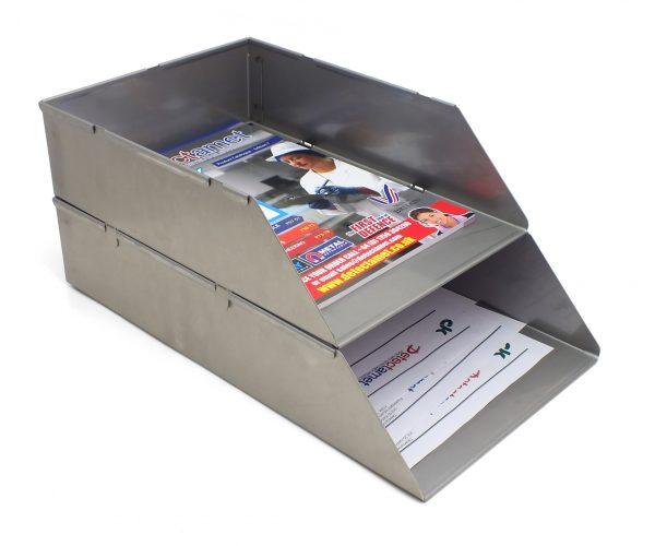Panière courrier en inox